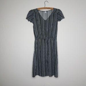 Old Navy Black Cap Sleeve Lightweight Mini Dress S